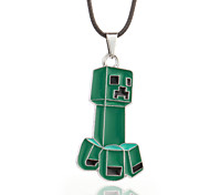 Vilam® MineCraft Green Cubic P.O. Box Zinc Alloy with Dripping Oil Pendant Necklace