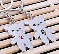 alliage de zinc petit ours porte-clés en forme (2 ps)