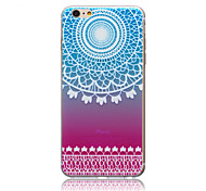 Gradient Lace Flowers  Pattern TPU Soft Back Cover Case for iPhone 6/6S
