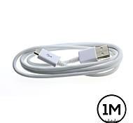 1m blanco micro usb cable del cargador de sincronización de datos