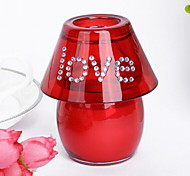 Fashion Lover`s Lamp Type Marry Glass Love Candle Holders Weddings