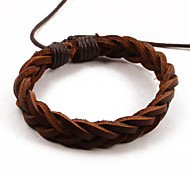 Fashion Men's Weave Leather Bracelets 1pc