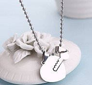 Romantic Heart and Key Shape Necklace