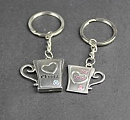 Alloy Cup Lovers Key Chain