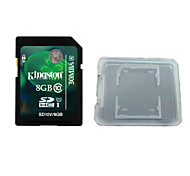 Original Kingston Digital 8 GB Class 10 SD Memory Card And The Memory Card Box