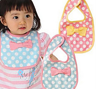 Baby Cotton Bow-knot Cleaning Bib (Random Colors)