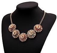 Retro Color Diamond Necklace
