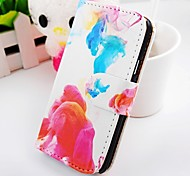 Graffiti Color Turn Around Wallet Stand PU Leather Case For Samsung Galaxy S2 SII I9100
