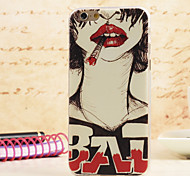 Chica spider®punk magia de colores pintura protetive TPU ultra-delgada caja trasera con protector de pantalla para iPhone5 / 5s