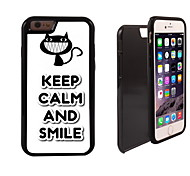 Keep Calm and Smile Design 2 in 1 Hybrid Armor Full-Body Dual Layer Shock-Protector Slim Case for iPhone 6 Plus
