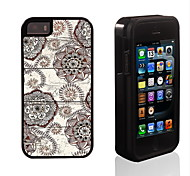 Retro Flower Pattern 2 in 1 Hybrid Armor Full-Body Dual Layer Shock-Protector Slim Case for iPhone 5/5S