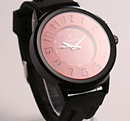 Men's Round Dial Case Rubber Watch Brand Fashion Quartz Watch(More Color Available)