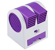 Mini portátil USB / 3 x AA alimentado sin aspas de la turbina del ventilador perfume aromaterapia - púrpura