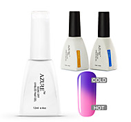Azure 3 Pcs/Lot Color Changing UV Gel Art Polish Soak-off Nail Care Polish (#16+BASE +TOP)