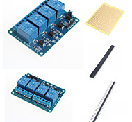 4 Ways Relay Module with Optocoupler and Accessories