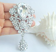 Wedding Accessories Silver-tone Clear Rhinestone Crystal Bridal Brooch Wedding Bouquet Wedding Deco Bridal Jewelry