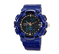 double affichage multifonctions bracelet en plastique montres numériques des hommes (couleurs assorties)