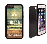 la vida es un diseño de la playa 2 en 1 armadura híbrido de cuerpo completo de doble capa golpes protector de caja delgada para el iphone
