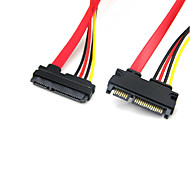 22 Pin Male to Female 7+15 Pin SATA Data Power Extension Cable