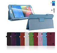 nieuwe stand pu lederen folio case cover tablet voor Samsung Galaxy Tab 4 8.0 T330 + screen protector + stylus pen