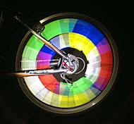 12PCS Bike Mount Warning Light Tube Reflective Bicycle Wheel Light Spoke (Assorted Colors)