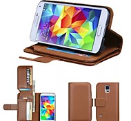 High-Grade Genuine Leather Mobile Phone Holster Full Body Case Shatter-Resistant Case for Samsung Galaxy S5 I9600