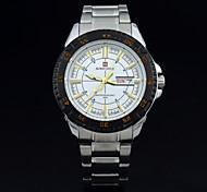 los hombres mirar top fecha calendario hombres ocio reloj de pulsera de acero llena de moda marca relojes deportivos militares Relogios