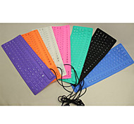 EW-105C Collapsible Silicone USB Keyboard for iPad and Other (Assorted Color)