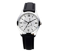Men's with Man-made Crystal White Dial  Fashion Watch of Capricornus