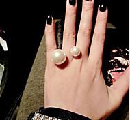 Ringe Alltag / Normal Schmuck Aleación / Künstliche Perle Damen Statementringe 1 Stück,8 Weiß