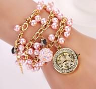 quartzo relógio de pulso pérola marca de luxo mulheres de moda designer de fantasia marca colorida diamante nova moda
