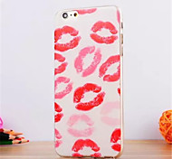 Kiss Pattern TPU Soft Cover for iPhone 6