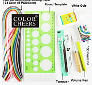 120PCS Quilling Paper DIY Craft Art Decoration Kit / 7PCS Set