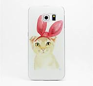 Rabbit ears cat Pattern PC Hard Case for Samsung Galaxy S6