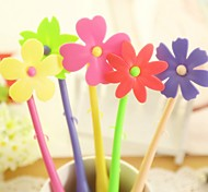 Flexible Cartoon Flower Style BallPoll Pen (Random Color)