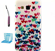 For Samsung Galaxy Case Pattern Case Back Cover Case Heart TPU Samsung A3