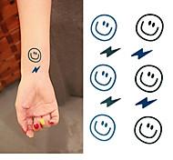 Tatuaggi adesivi - Altro Bambino/Da donna/Girl/Da uomo/Adulto/Boy/Teen - 3 - Modello - di Carta - 6*5 - Nero/Blu -Non