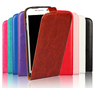 For Samsung Galaxy Case Flip Case Full Body Case Solid Color PU Leather Samsung S6