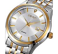 moda reloj ocasional completos los hombres de acero inoxidable reloj de pulsera de negocio deporte rhinestone cuarzo (colores surtidos)