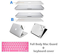 Sliver Super Slim Full Body Protect Sticker and Keyboard Cover with package for Macbook Pro 13.3 inch (Assorted Colors)