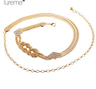 Lureme®Fashion Alloy Waist Chain