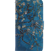 The Plum Flower design PU Leather Stand Case with Card Slot for  Sony E4