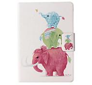 Elefanten-Muster-Leder Ganzkörper-Fall mit Standplatz für Amazonas paper / kindle paper 2