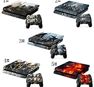 Protective Vinyl Skin Decal Cover for PS4 Console Wrap Sticker Skins Blue Flames