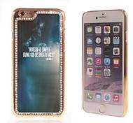 el brillo brillo híbrido de lujo bling del diseño del cielo con la caja de diamantes de imitación de cristal para el iphone 6