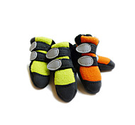 Cat / Dog Shoes & Boots Green / Orange Spring/Fall Polar FleeceDog Shoes