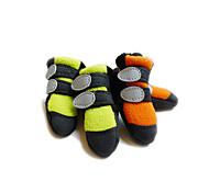 Socken & Schuhe für Hunde / Katzen Grün / Orange Frühling/Herbst XS / S / M / L / XL Polar-Fleece