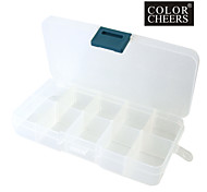 Clear Plastic Nail Art Tip Storage Box Case Tool