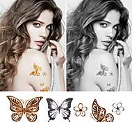 Tatuaggi adesivi - Serie animali Bambino/Da donna/Girl/Da uomo/Adulto/Boy/Teen - 1 - Modello - di Carta - 6*5 - Oro -Non