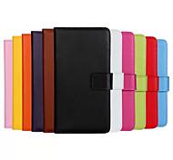 cuir véritable corps de cas complète flip avec fente pour carte et se tenir pour iPhone 5c (couleurs assorties)